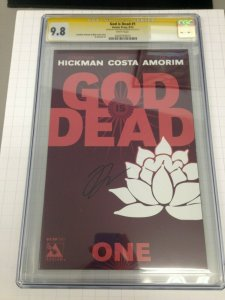 God is Dead 1 CGC 9.8 Signed by Jonathan Hickman