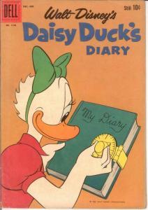 DAISY DUCKS DIARY F.C.1150 G-VG Barks Dec.-Feb. 1961 COMICS BOOK