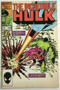 INCREDIBLE HULK#318 VF 1986 MARVEL COMICS