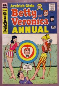 ARCHIE'S GIRLS BETTY & VERONICA ANNUAL #8 1960 ARCHERY FN