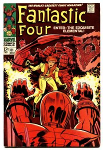 Fantastic Four #81 comic book 1968- Marvel silver age- Jack Kirby VF