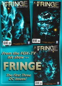 FRINGE #1, #2, #3 (Aug-Oct 2010) 9.4 NM  First 3 DC Issues Based on FOX-TV HIT!