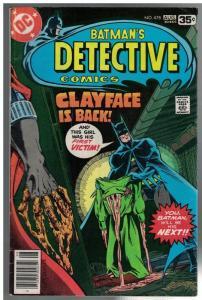 DETECTIVE 478 VG+ Aug.1978 Marshall Rogers Clayface
