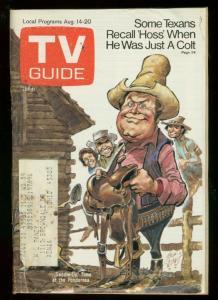 TV Guide August 14 1971-Southern Ohio edition-JACK DAVIS BONANZA COVER