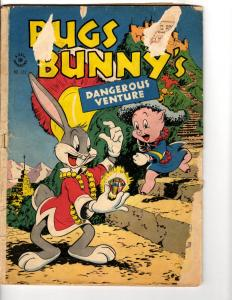 Four Color # 123 GD Dell Age Comic Book Looney Tunes Bugs Bunny Porky Pig JL14