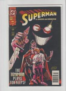 Superman 84 FN+ 6.5 (1993, DC) Newsstand Variant!