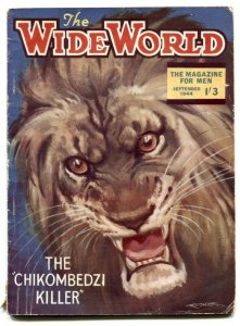 The Wide World Pulp September 1944-lion cover- Chikombedzi