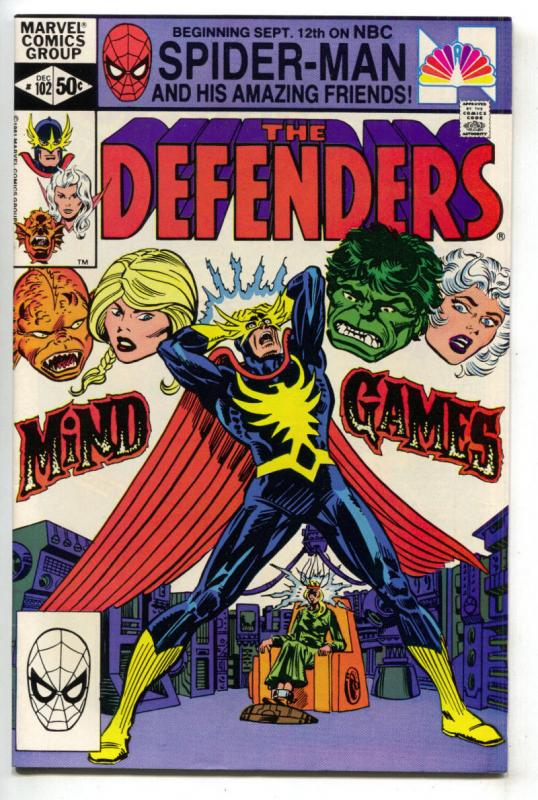 DEFENDERS #102, VF/NM, Hulk, Valkyrie, 1972 1981, Mind Games, Marvel
