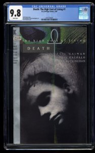 Death: The High Cost of Living #1 CGC NM/M 9.8 White Pages