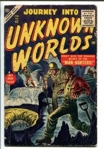 JOURNEY INTO UNKNOWN WORLDS #42 1956-ATLAS-SCI-FI-SYD SHORES-vg