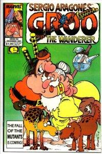 GROO the WANDERER #34, NM, Sergio Aragones, more Groo in store