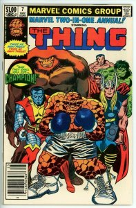 Marvel Two In One Annual #7 (1972) - 5.5 FN- *1st Appearance Champion*