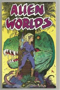 ALIEN WORLDS #1, NM-, Stout, T-rex, Dinosaur, 1988 Eclipse Comics