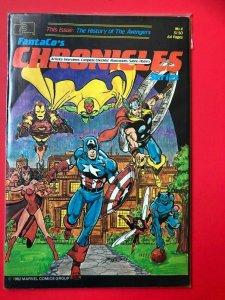 FantaCo's CHRONICLES HISTORY OF THE AVENGERS #4  1982 / PEREZ / MID/+/- QUALITY