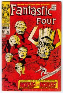 Fantastic Four #75 (Jun-68) FN+ Mid-High-Grade Fantastic Four, Mr. Fantastic ...