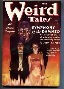 Weird Tales April 1937- Finlay cover- August Dereleth-Pulp Magazine