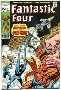 FANTASTIC FOUR #114, FN+, vs OverMind, Buscema, 1961,more FF in store, QXT