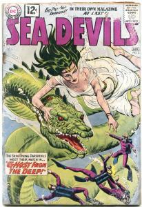 SEA DEVILS #3 1962--GREY TONE COVER--DC Silver Age- reading copy