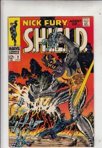 Nick Fury Agent of S.H.I.E.L.D. #2 (Jul-68) VF+ High-Grade Nick Fury, S.H.I.E...