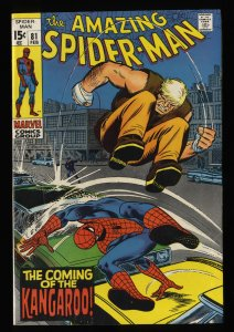 Amazing Spider-Man #81 FN- 5.5 White Pages