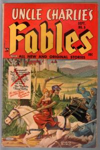 Uncle Charlies Fables #5 1952-Lev Gleason-Final issue-Biro-Norman Maurer-FN