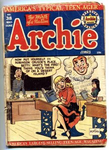 ARCHIE #38-1949-comic book-Spicy BETTY legs cover G