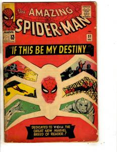 Amazing Spider-Man # 31 VG- Marvel Comic Book Goblin Sandman Vulture Kraven RH3