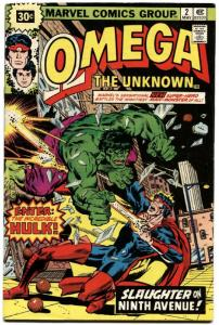 OMEGA THE UNKNOWN #2-30 CENT PRICE VARIANT-1976
