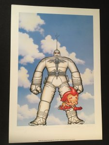 THE BIG GUY AND RUSTY THE BOY ROBOT Poster Signed by Geof Darrow, Frank Miller