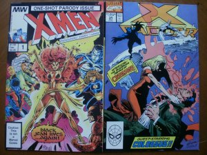 2 Comic: Milky Way X-MEN One-Shot Parody Issue #1 & Marvel X-FACTOR #54 Colossus