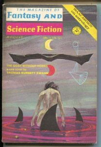 Magazine of Fantasy & Science Fiction 8/1970-Mercury-Isaac Asimov-Ron Goulart-FN