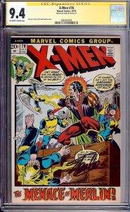 X-Men #78 (Marvel, 1972) CGC 9.4 Signature Series