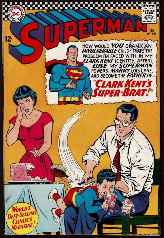 Superman #192 (Jan 1967, DC) FN+