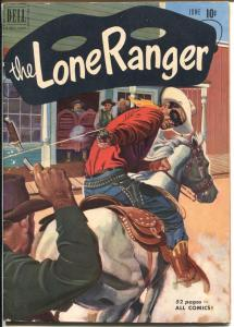 Lone Ranger #36 1951-Dell-red shirt cover-VG/FN