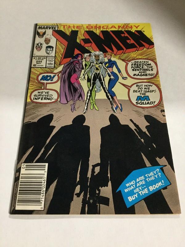 Uncanny X-Men 244 Nm- Near Mint- First Appearance Of Jubilee Marvel