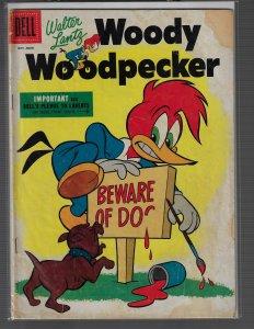 Woody Woodpecker #33 (Dell, 1955) GD