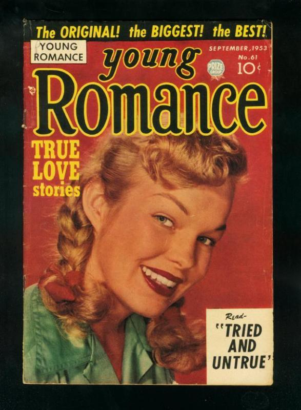 YOUNG ROMANCE #61 1953-SIMON & KIRBY-PHOTO COVER-CLASSIC-very good VG