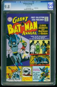BATMAN ANNUAL #1 1999-CGC GRADED 9.8-REPLICA EDITION--WHITE PAGES 0216554001