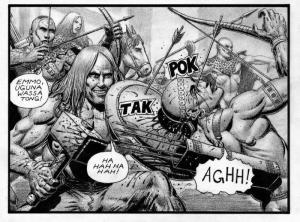 SEAN PATTY original art, WORGARD VIKING BERSERKER, 11x17, 2011, Battle, pg 16