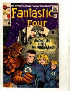 Fantastic Four # 45 FN- Marvel Comic Book Silver Age Thing Human Torch Doom GK1