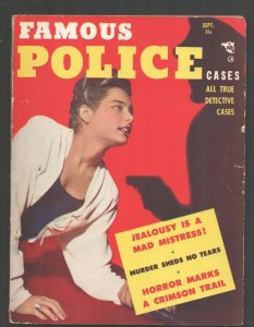 Famous Police Cases #10 9/1950-Classic issue-loaded with exploitation-lurid c...