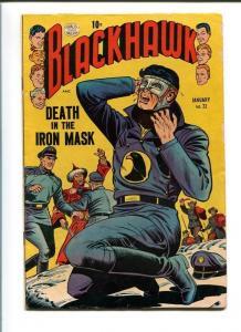 BLACKHAWK COMICS #72-QUALITY-1954-REED CRANDALL ART-DEATH IN THE IRON MASK VG/FN