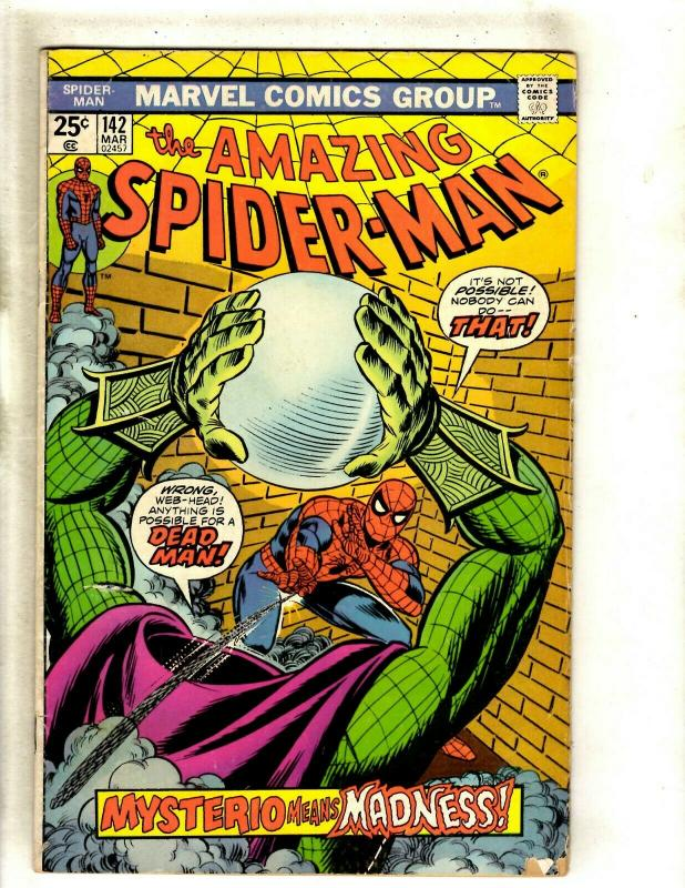 Amazing Spider-Man #142 VG/FN Marvel Comic Book Goblin Vulture MJ Rhino Gwen HY1