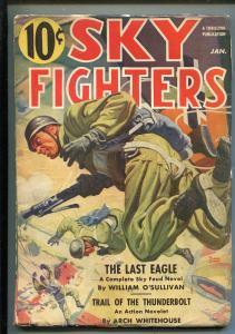 SKY FIGHTERS 1/1941-AIR WAR PULP-THRILLS-PARATROOPER-BELARSKI-O'SULLIVAN-vg+