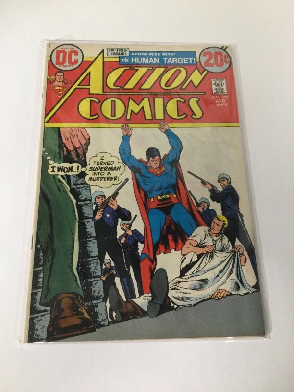 Action Comics 423 Vg/Fn Very Good Fine DC Comics