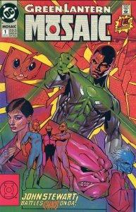 Green Lantern Mosaic #1 (June 1992) - Stewart battles Chaos on Da!