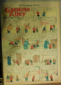 Gasoline Alley Sunday by Frank King from 1/7/1934 Full Page Size !