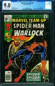 Marvel Team-up #55 CGC 9.0 Spider-Man Warlock 2009759008