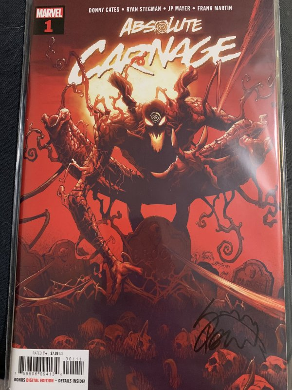 ABSOLUTE CARNAGE #1 (Marvel Comics 2019) Signed By Ryan Stegman w/ COA