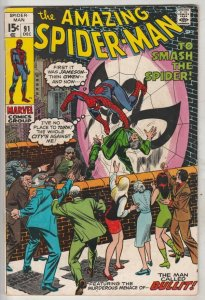 Amazing Spider-Man #91 (Dec-70) VF/NM High-Grade Spider-Man